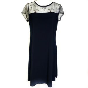 NWOT A.K.A Posh Black Floral Cocktail Dress